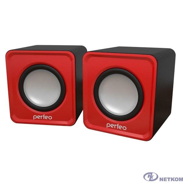 """Perfeo колонки """"WAVE"""" 2.0, мощность 2х3Вт (RMS), красный, USB [PF-128-R]"""
