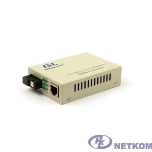 GIGALINK GL-MC-UTPF-SC1F-18SM-1310-N Конвертер из UTP, 100Мбит/c в WDM, без LFP, SM, SC, Tx:1310/Rx:1550, 18 дБ (до 20 км)