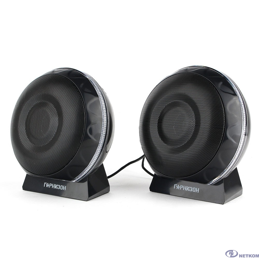 Гарнизон GSP-150, черный, 6 Вт, FTB-динамики, материал- пластик, USB - пита