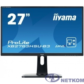 "IIYAMA 27"" XB2783HSU-B3 черный {VA LED 1920x1080 4ms 16:9 3000:1 300cd 178гр/178гр D-Sub DisplayPort HDMI}"