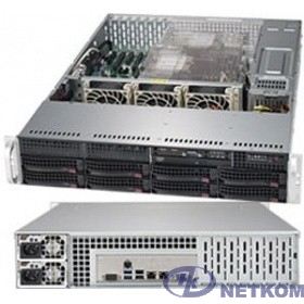 Supermicro SYS-6029P-TR, 2U/2xLGA3647/iC621/16xDDR4/8x3.5 SATA3/IPMI/VGA/2xGb/1000W 1+1