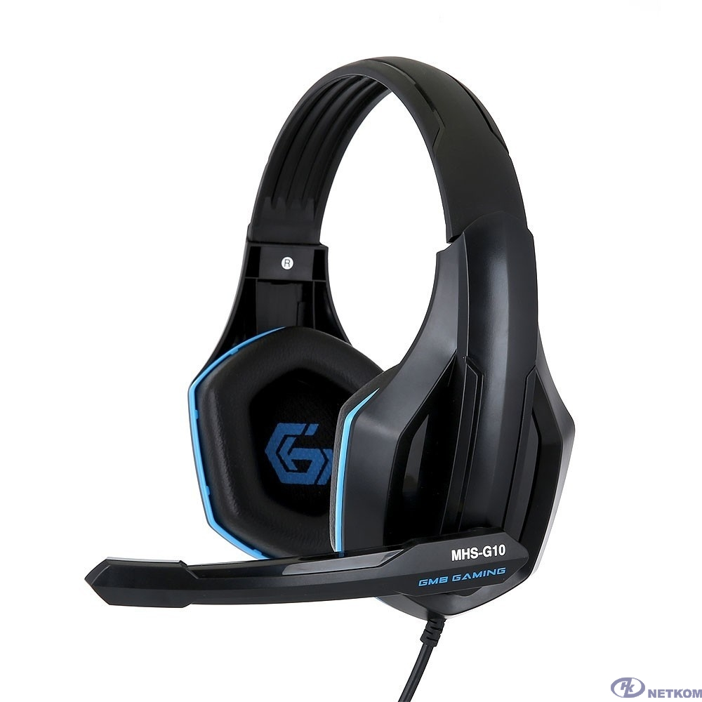 "Gembird MHS-G10, код ""Survarium"", черн/син, рег. громкости, кабель 2.5м"