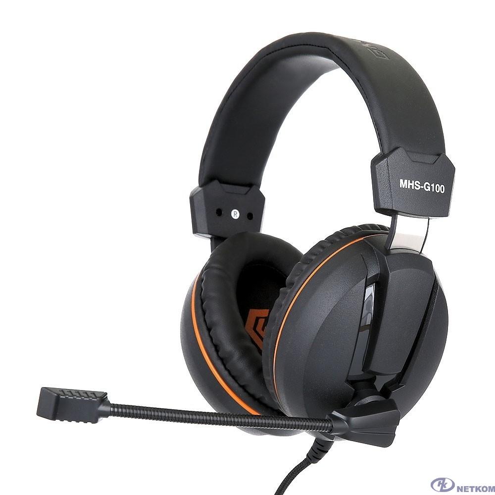 "Gembird MHS-G100, код ""Survarium"", черн/ор, рег. громкости, откл. мик, кабель 2,5м"