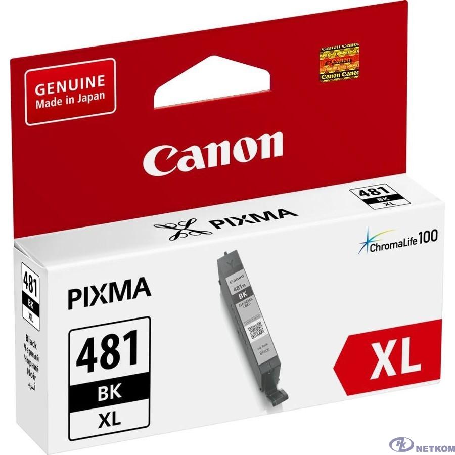Canon CLI-481XL BK 2047C001 Картридж для PIXMA TS6140/TS8140TS/TS9140/TR7540/TR8540, 2280 стр. чёрный