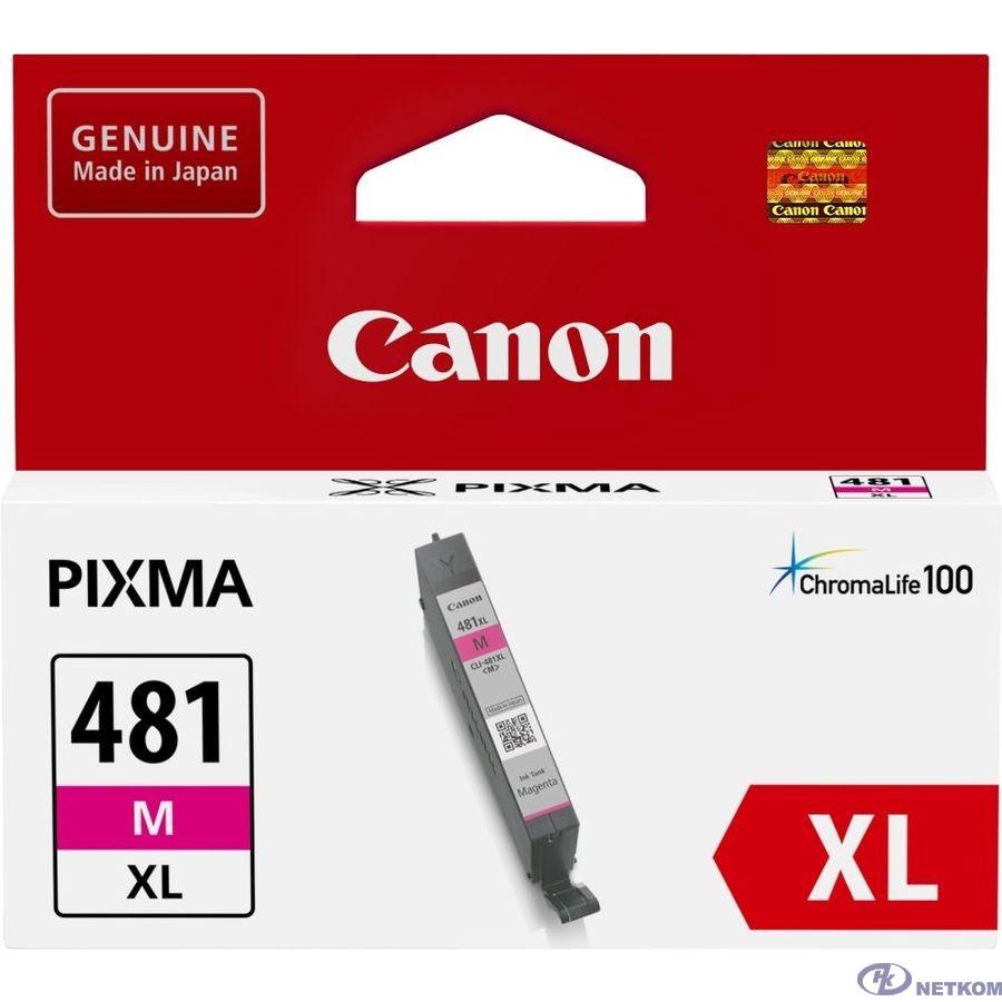 Canon CLI-481XL M 2045C001 Картридж для PIXMA TS6140/TS8140TS/TS9140/TR7540/TR8540, 466 стр. пурпурный
