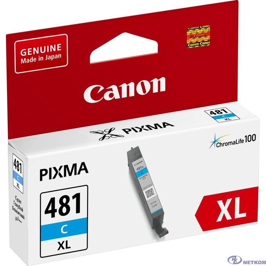 Canon CLI-481XL С 2044C001 Картридж для PIXMA TS6140/TS8140TS/TS9140/TR7540/TR8540, 519 стр. голубой