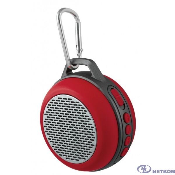 "Perfeo Bluetooth-колонка PF-BT-SOLO-RD ""SOLO"" FM, MP3 microSD, AUX, мощность 5Вт, 600mAh, красная PF_5206"