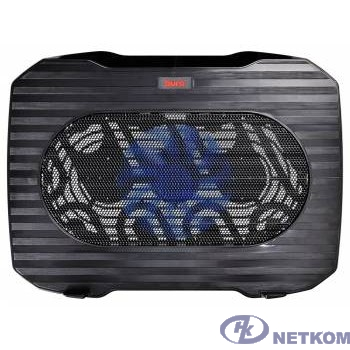"BURO Подставка для ноутбука 15.6""357x265x33mm 1xUSB 1x 140mmFAN 345г металлическая сетка/пластик черный (BU-LCP156-B114)"