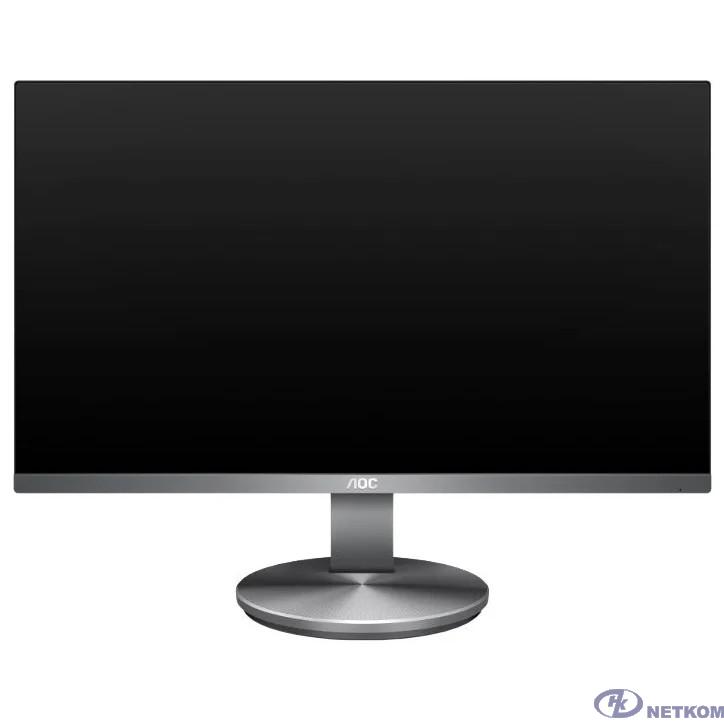 """LCD AOC 23.8"""" I2490VXQ Silver/Black {IPS LED 1920x1080 4ms 16:9 250cd 178гр/178гр D-Sub HDMI DisplayPort}"""