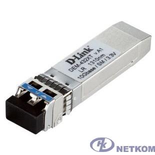 D-Link 432XT/B1A  PROJ Трансивер SFP+ с 1 портом 10GBase-LR для одномодового оптического кабеля (до 10 км)