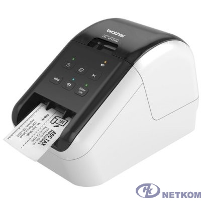 Brother QL-810W Принтер для изготовления наклеек авторезак, ленты до 62 мм, до 110 наклеек/мин, 300 т/д, WiFi (QL810WR1)