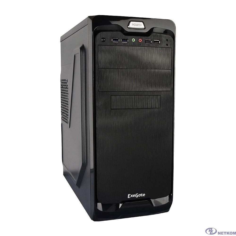 Exegate EX269436RUS Корпус Miditower UN-604 Black, ATX, <UN400, 120mm> 2*USB+2*USB3.0, Audio