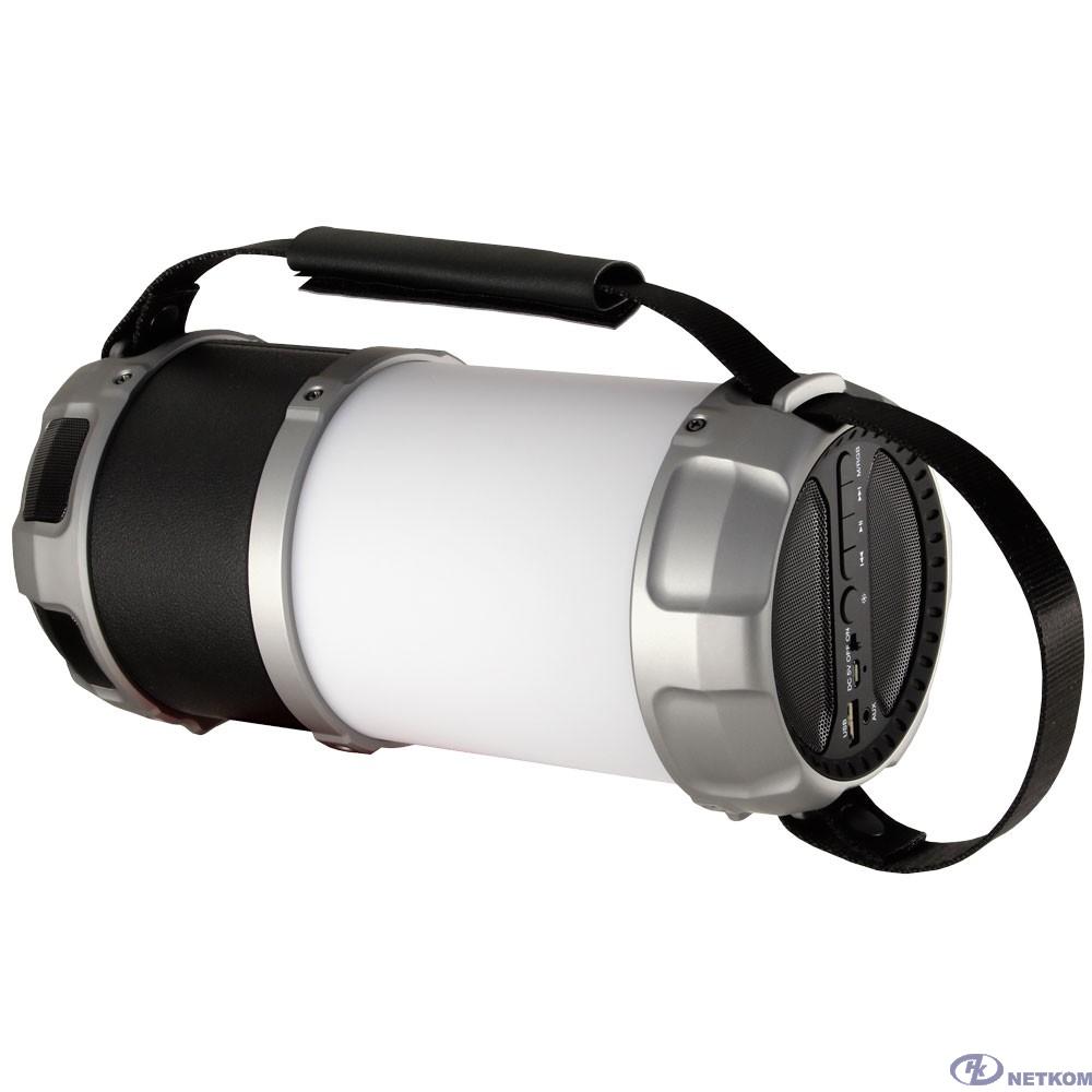 Ginzzu GM-889B {BT-Колонка 20W/3Ah/LED/RGB/USB/AUX/FM/subwoofer}