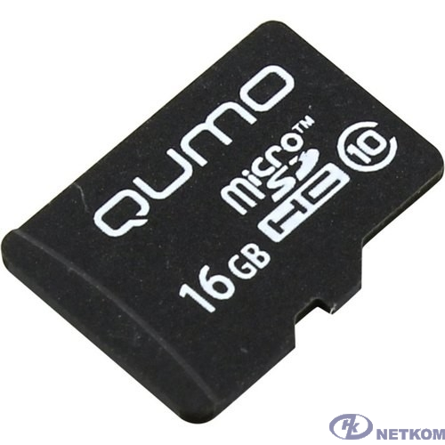 Micro SecureDigital 16Gb QUMO QM16GMICSDHC10NA {MicroSDHC Class 10}