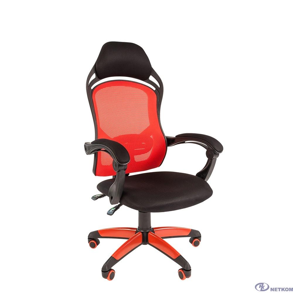 Офисное кресло Chairman   game 12  Россия черн.красный [7016632]