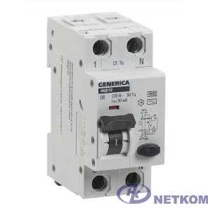 Iek MAD25-5-020-C-30 АВДТ 32 C20 - Автоматический Выключатель Дифф. Тока GENERICA