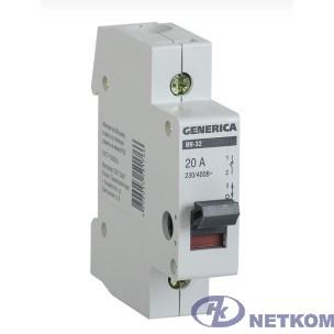 Iek MNV15-1-063 Выключатель нагрузки (мини-рубильник) ВН-32 1Р 63А GENERICA