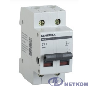 Iek MNV15-2-063 Выключатель нагрузки (мини-рубильник) ВН-32 2Р 63А GENERICA