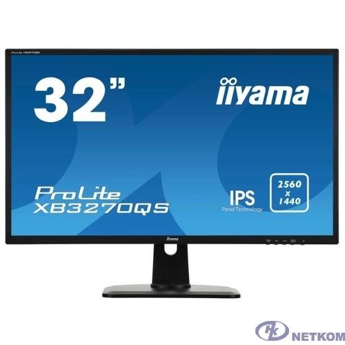 """IIYAMA 32"""" XB3270QS-B1 (A) черный {IPS 2560x1440 75Hz 4ms 16:9 1200:1 250cd 178/178 10bit(8bit+FRC) DVI HDMI1.4 DisplayPort1.2 2x3W VESA}"""