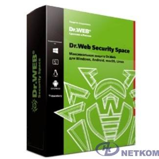 BHW-B-12M-2-A3(A2) Dr. Web Security Space, картонная упаковка, на 12 месяцев,  на 2 ПК [350931]