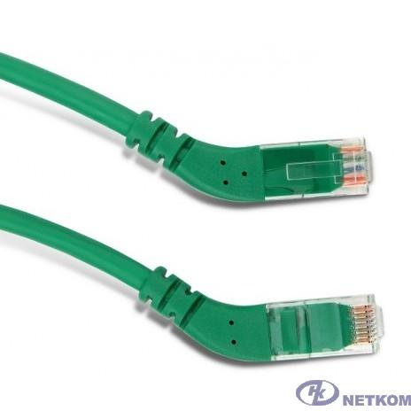 Hyperline PC-APM-UTP-RJ45/R45-RJ45/R45-C6-5M-LSZH-GN Патч-корд U/UTP угловой, правый 45°-правый 45°, Cat.6, LSZH, 5 м, зеленый