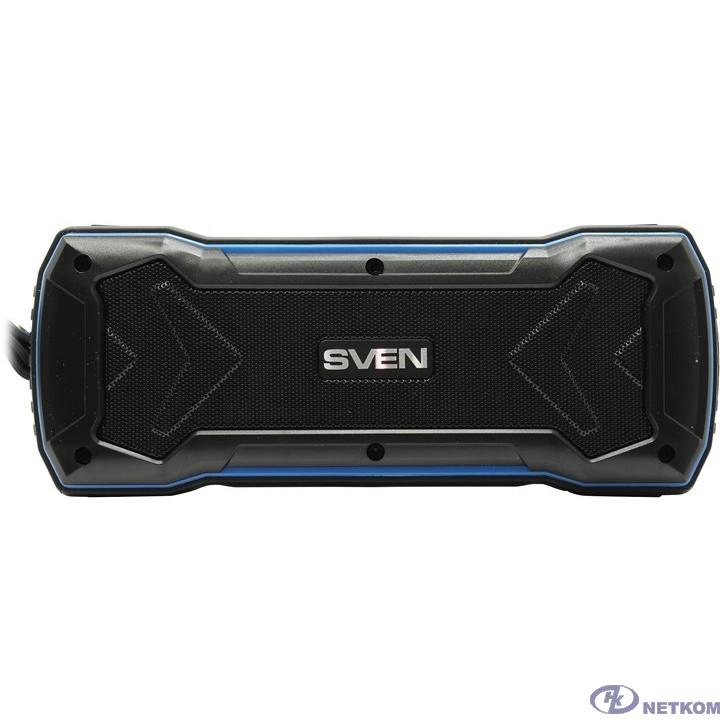 SVEN PS-220, черный-синий [SV-016470] (10 Вт,  Bluetooth, USB, microSD, FM-тюнер)