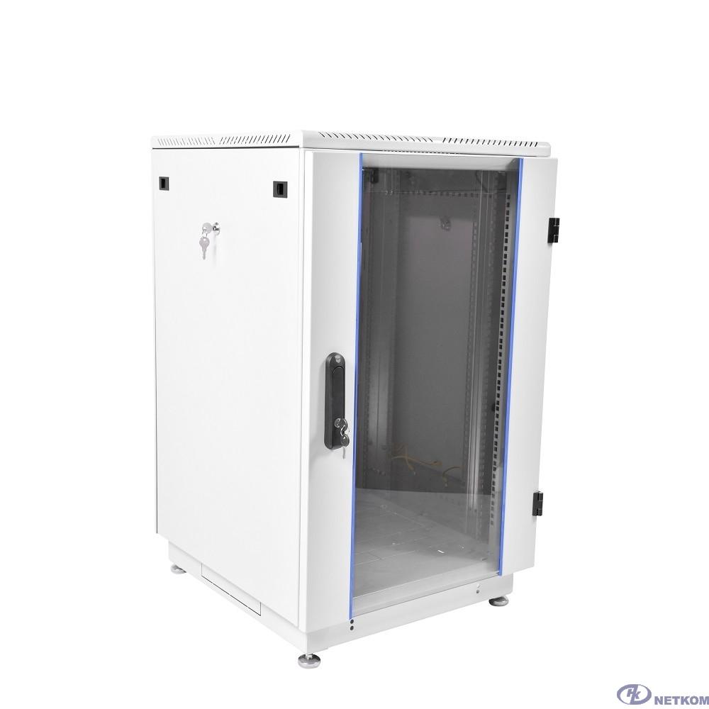 ЦМО Шкаф телекоммуникационный напольный 27U (600x600) дверь стекло (ШТК-M-27.6.6-1AAA) (2 коробки)