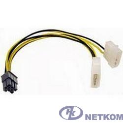 Gembird Разветвитель питания , 2xMolex->PCI-E 6pin, для подкл. в/к к б/п [CC-PSU-6]