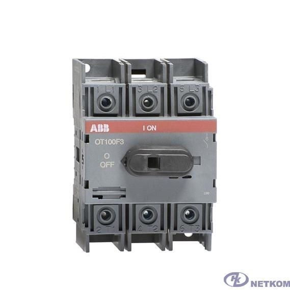 ABB 1SCA105033R1001 Рубильник OT125F3 до 125А 3х-полюсный для установки на DIN-рейку или монтажную плату (с резерв. ручкой)