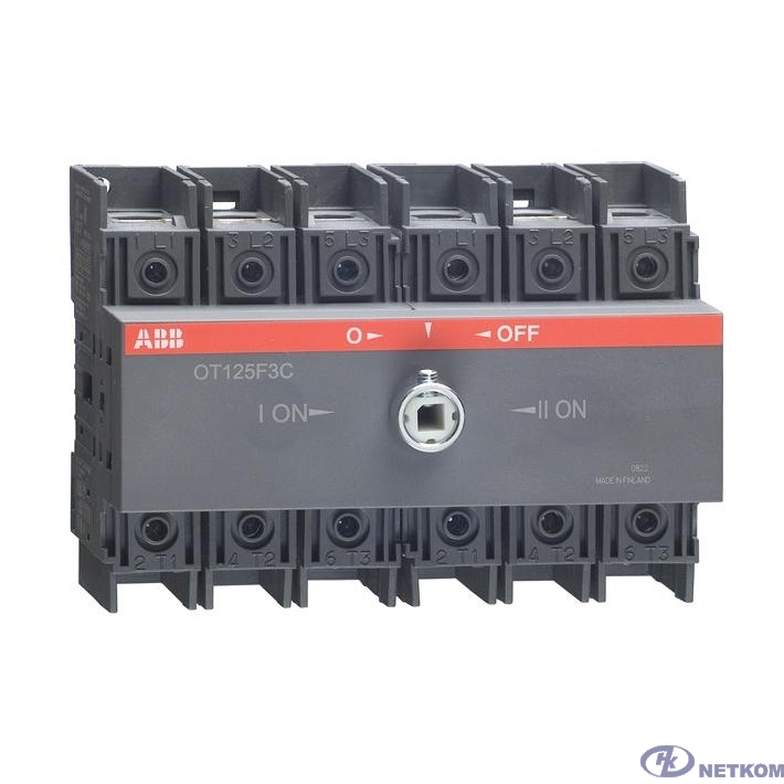 ABB 1SCA105037R1001 Реверсивный рубильник OT125F3C до 125А 3х-полюсный для установки на DIN-рейку или монтажную плату (без ручки)