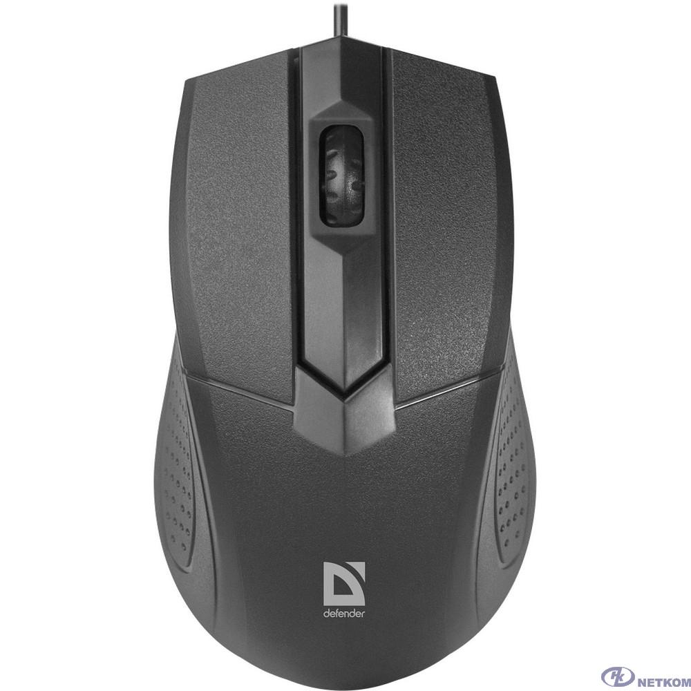 Defender Optimum MB-270 черный [52270] {Проводная оптическая мышь, 3 кнопки,1000 dpi}