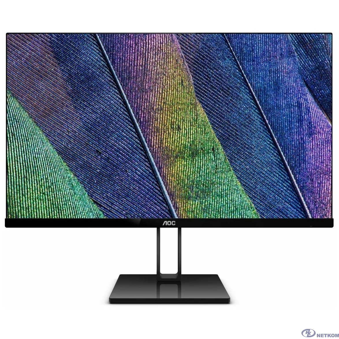 "LCD AOC 23.8"" 24V2Q черный {IPS 1920x1080 5ms 178/178 250cd 20M:1 HDMI(1.4) DisplayPort(1.2)}"