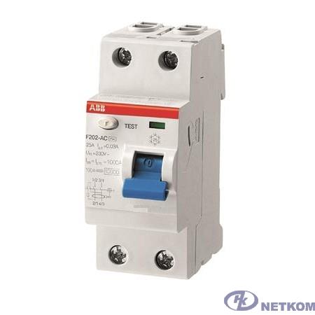 ABB 2CSF202101R0160 Выкл.диф.тока 2мод. F202 A-16/0,01