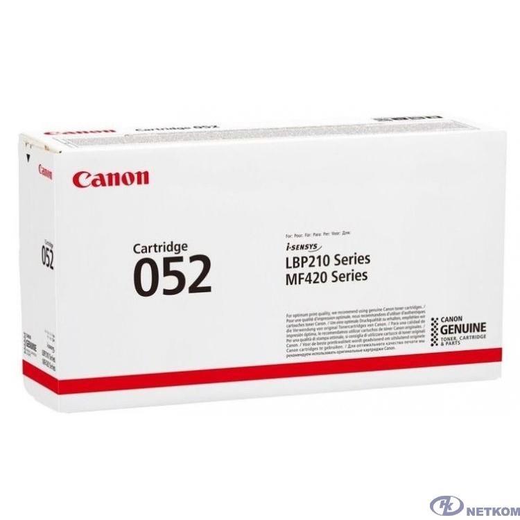 Canon Cartridge 052Bk 2199C002 Тонер-картридж для Canon MF421dw/426dw/428x/429x, LBP 212dw/214dw/215x  (3100 стр.) чёрный (GR)