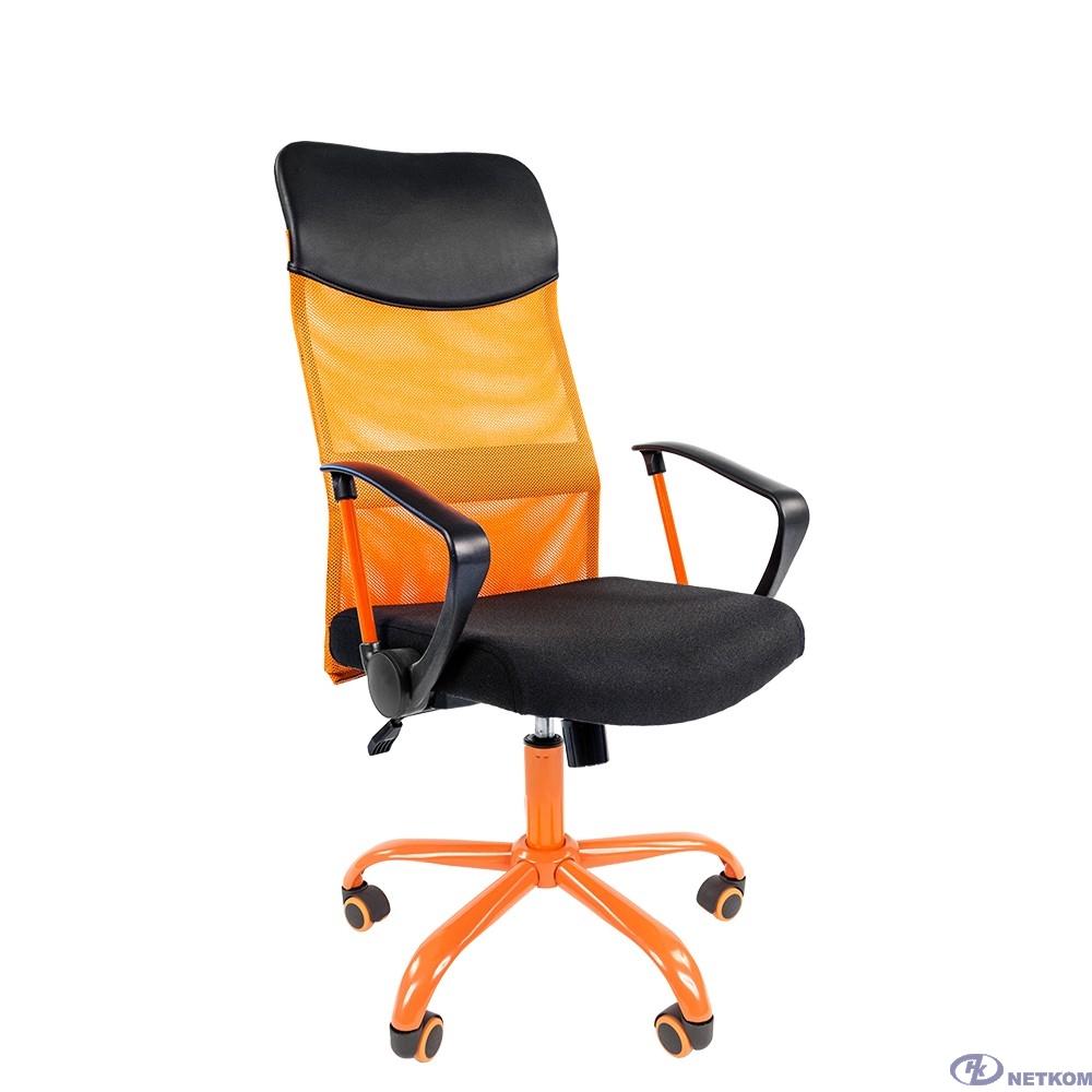 Офисное кресло Chairman 610 Россия  15-21 черный + TW оранжевый/CMet (7021400)