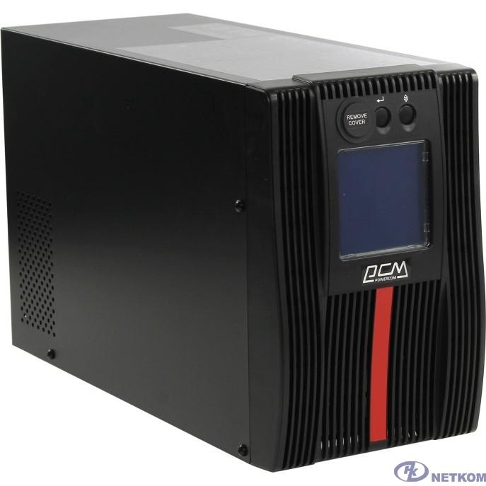UPS PowerCom Macan MAC-1000 {On-Line, 1000VA / 1000W, Tower, IEC, LCD, Serial+USB, SmartSlot, подкл. доп. батарей}