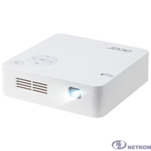 Acer C202i [MR.JR011.001] {DLP 300Lm WVGA (854x480) 5000:1 USB HDMI WiFi аккумулятор 0.4кг}