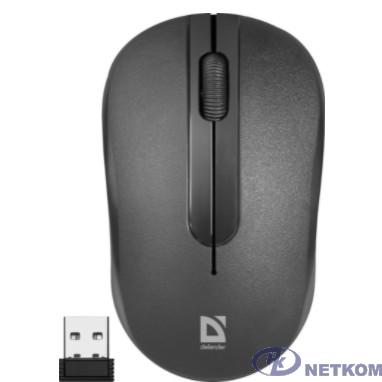 Defender Datum MM-285  Black USB [52285] {Беспроводная оптическая мышь,3 кнопки,1600 dpi}