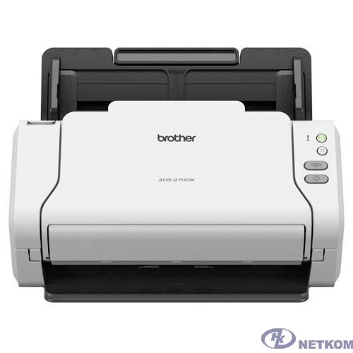 Сканер Brother ADS-2700W (A4, 1200x1200 т/д, 35 стр, Duplex, DADF50, WiFi, LAN, USB