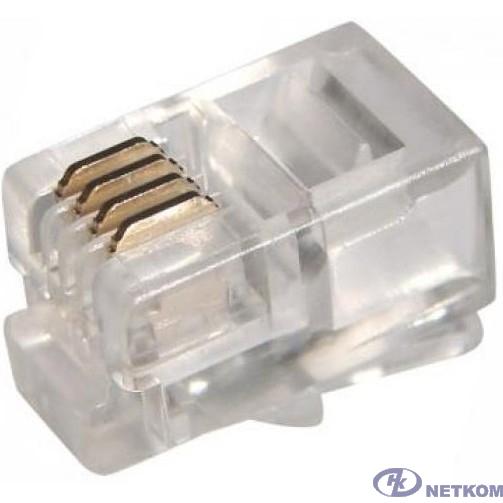 5bites US010A Коннектор 5bites US010A RJ-11 / 4P4C / 100ШТ