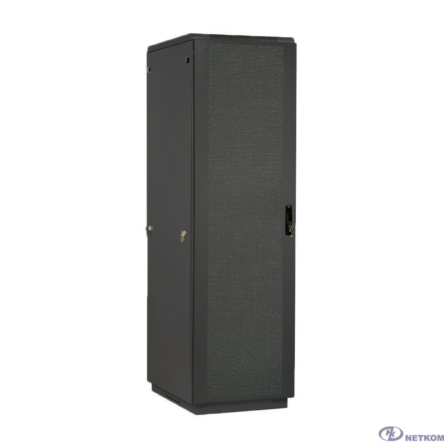 ЦМО Шкаф телекоммуникационный напольный 42U (600 х 1000) дверь перфорированная 2 шт., цвет чёрный(ШТК-М-42.6.10-44АА-9005)