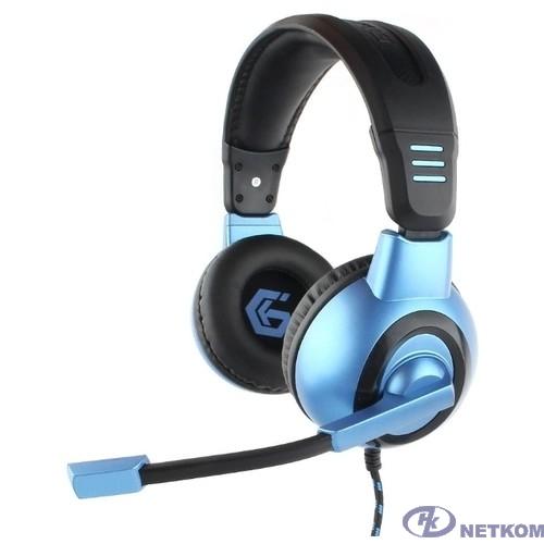 Gembird MHS-G55, код Survarium, черн/син, рег громкости, откл микр, каб 2.5м