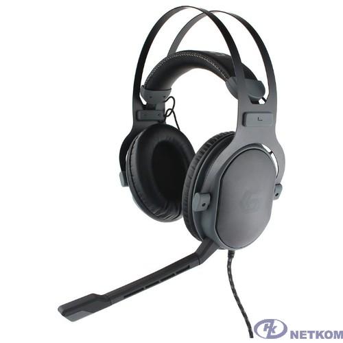 Gembird MHS-G700U, черн, мембрана 53мм, метал корпус, рег громкости, каб ткан 2.5м