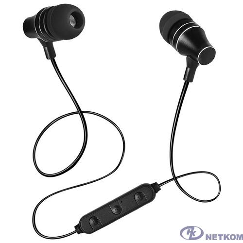 SVEN E-225B, черный {Bluetooth 4.1, 2 комплекта сменных амбушюр, Время работы от аккумулятора 5 часов}