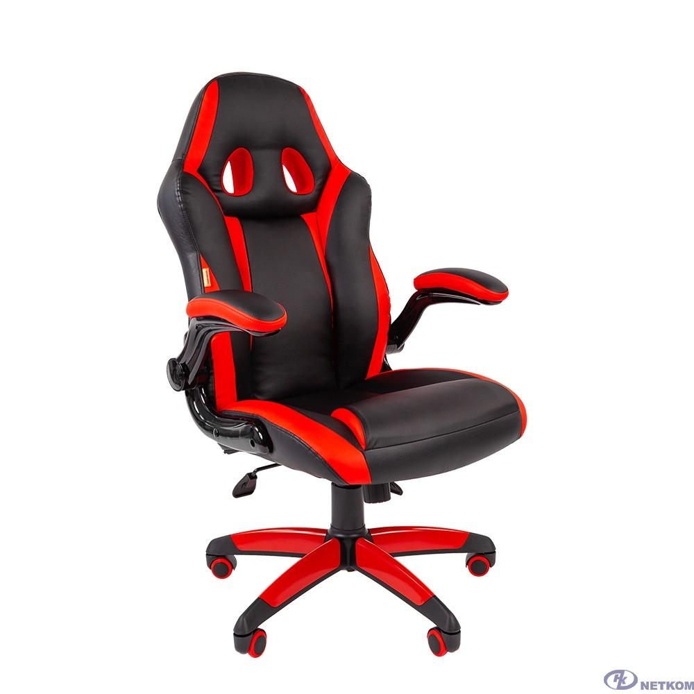 Офисное кресло Chairman   game 15 Россия экопремиум черный/красный (7022777/7069667)