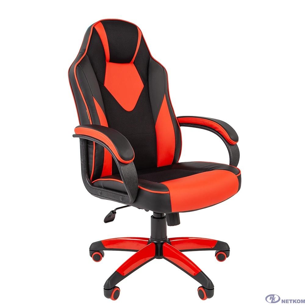 Офисное кресло Chairman   game 17 Россия экопремиум черный/красный (7024560)