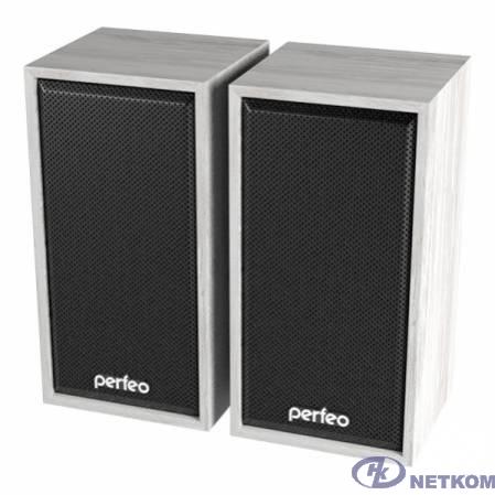 """Perfeo колонки """"CABINET"""" 2.0, мощность 2х3 Вт (RMS), белый дуб, USB"""
