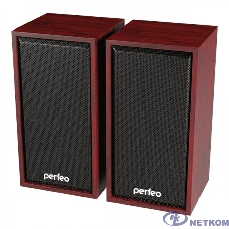 "Perfeo колонки ""CABINET"" 2.0, мощность 2х3 Вт (RMS), махагон, USB"