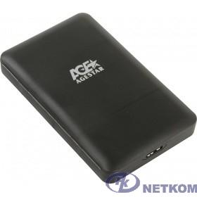 "AgeStar 3UBCP3 (BLACK) USB 3.0 Внешний корпус 2.5"" SATAIII HDD/SSD USB 3.0, пластик, черный, безвинтовая конструкция"