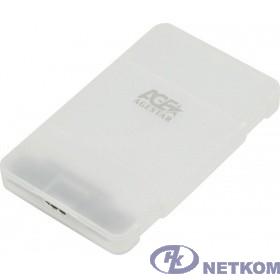 "AgeStar 3UBCP3 (WHITE) USB 3.0 Внешний корпус 2.5"" SATAIII HDD/SSD USB 3.0, пластик, белый, безвинтовая конструкция"